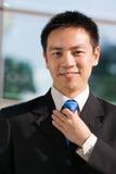 Aziatische Chinese bedrijfsmens Stock Foto