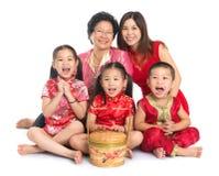 Aziatische Chinese familie stock afbeeldingen