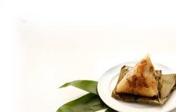 Aziatische Chinese rijstbollen of zongzi Stock Afbeeldingen