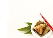 Aziatische Chinese rijstbollen of zongzi Stock Fotografie