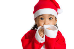 Aziatische Chinese Santa Girl Royalty-vrije Stock Fotografie