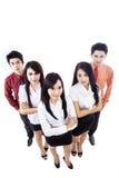 Aziatisch commercieel geïsoleerdd team stock foto