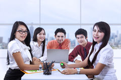 Aziatische commerciële vergadering Royalty-vrije Stock Afbeelding