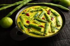Aziatische cuisine- moringa mangokerrie, royalty-vrije stock afbeelding