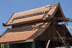 Aziatische dakstijl in aanbouw Royalty-vrije Stock Foto's