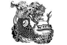 Aziatische Draak Royalty-vrije Stock Foto's