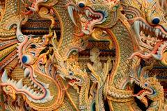 Aziatische draakachtergrond Stock Foto's