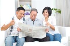 Aziatische familie Royalty-vrije Stock Afbeelding