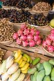 Aziatische fruitmarkt Royalty-vrije Stock Afbeelding
