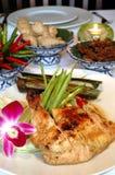 Aziatische gebakken kip royalty-vrije stock foto's