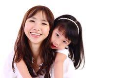 Aziatische gelukkige familie Royalty-vrije Stock Afbeeldingen