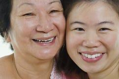 Aziatische gezichten Royalty-vrije Stock Foto's