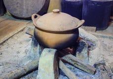 Aziatische het drinken potten Stock Foto