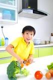 Aziatische het Koken Levensstijl Royalty-vrije Stock Foto's