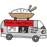 Aziatische het voedselvrachtwagen van de rijstkom Royalty-vrije Stock Afbeeldingen