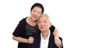 Aziatische hogere partner in formele kledij Het familiebedrijf van het liefdeleven royalty-vrije stock afbeelding