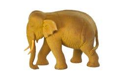 Aziatische houten olifant Royalty-vrije Stock Foto's