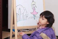 Aziatische jong geitjetekening Royalty-vrije Stock Fotografie