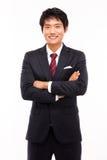 Aziatische jonge bedrijfsmens royalty-vrije stock afbeeldingen