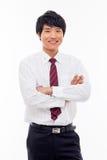 Aziatische jonge bedrijfsmens stock foto's