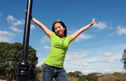 Aziatische jonge dame Royalty-vrije Stock Foto's