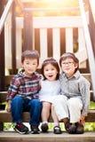 Aziatische jonge geitjes Royalty-vrije Stock Fotografie