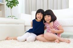 Aziatische jonge geitjes Stock Foto's