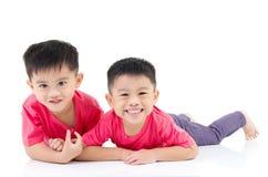 Aziatische jonge geitjes Royalty-vrije Stock Foto