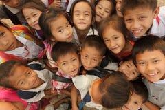 Aziatische jonge geitjesgroep Stock Foto's