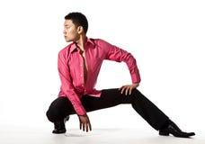 Aziatische jonge mens in modieuze kledij Royalty-vrije Stock Foto