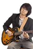 Aziatische jonge musicus Royalty-vrije Stock Afbeelding