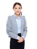 Aziatische jonge onderneemster stock afbeeldingen