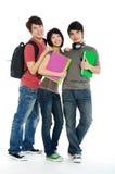 Aziatische jonge studenten Royalty-vrije Stock Afbeeldingen