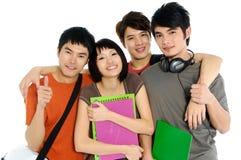 Aziatische jonge studenten Stock Afbeeldingen