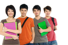 Aziatische jonge studenten Stock Fotografie