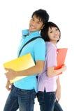 Aziatische jonge studenten Stock Foto's