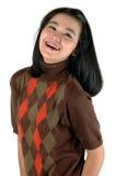 Aziatische jonge studentglimlach die steunen draagt Royalty-vrije Stock Foto's
