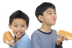 Aziatische jonge vriend Royalty-vrije Stock Afbeelding