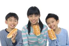 Aziatische jonge vrienden Stock Fotografie