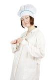 Aziatische jonge vrouwelijke kok Stock Afbeelding
