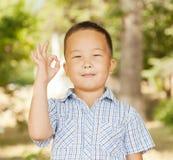 Aziatische jongen 6 jaar Stock Foto's