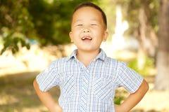 Aziatische jongen 6 jaar Royalty-vrije Stock Afbeelding