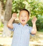 Aziatische jongen 6 jaar Stock Foto