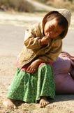 Aziatische kinderen, slecht, vuil Vietnamees jong geitje Royalty-vrije Stock Foto