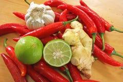 Aziatische kokende ingrediënten Stock Foto