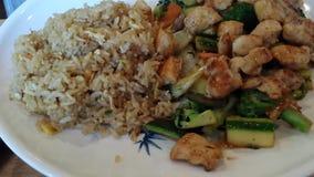 Aziatische kruidige rijst stock video