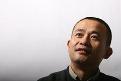 Aziatische kunstenaar - het zweten gezicht Stock Afbeeldingen