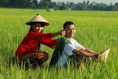 Aziatische landbouwer Stock Afbeelding