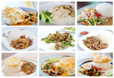 Aziatische maaltijdreeks royalty-vrije stock foto