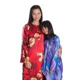 Aziatische Maleisische Moeder en Dochter VIII stock afbeeldingen